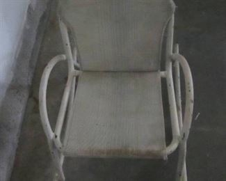 "Vintage Child's metal outdoor rocker  18"" Tall seat is 9"" from floor"