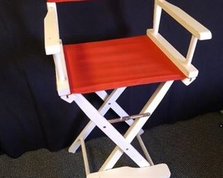 "Collapsible directors chair - 46"" H"