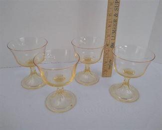 "4 drinking glasses 4 1/2"" H"