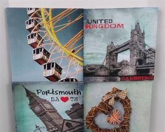 "United Kingdom themed hanging wall art - 24"" X 24"""