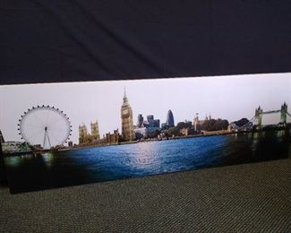 """Outlook of London hanging wall art - 19 1/2"""" H X 60"""" W"""