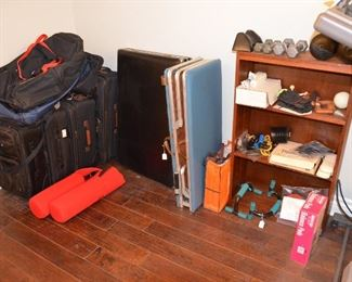 Folding and Portable Massage Tables. Luggage. Exercise equipment. Massaging equipment