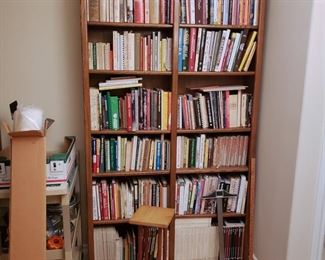 Lots of Books - Cook Books, Knitting Books and magazines, Lots of other books. Music books.