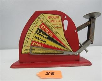 Brower Mfg. Co. egg scale
