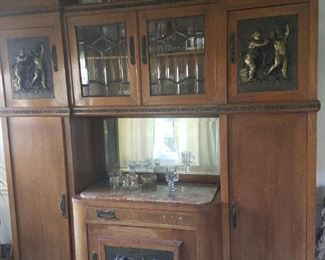 very early china cabinet probably from Italy