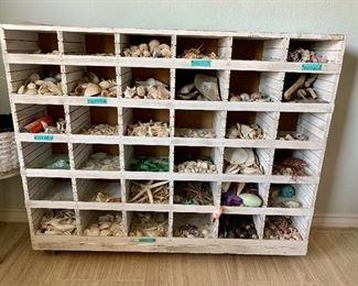Coastal wooden bin ( great for a shop display)