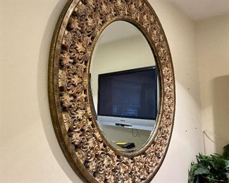"""Snazzy Mirror-45""""diameter. Makes a statement of elegance! Sure is a knockout! Just $200"""