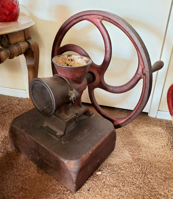 HUGE heavy antique Moctezuma coffee mill / grinder