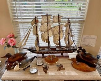 Model Ships and Modern Furniture