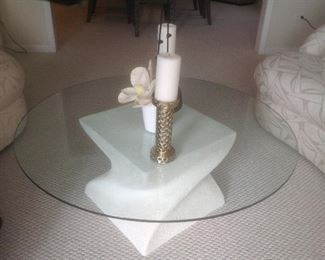 """Coffee table...42"""" round and 16"""" tall.  Presale $75"""