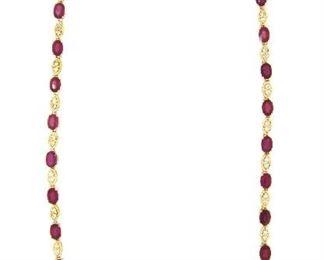 21.61ct Ruby & 1.75ct Diamond Necklace