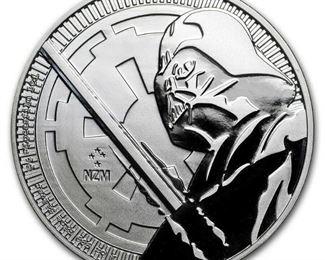 2018 Niue Star Wars Darth Vader Silver Coin 1 oz Ships In Coin Capsule