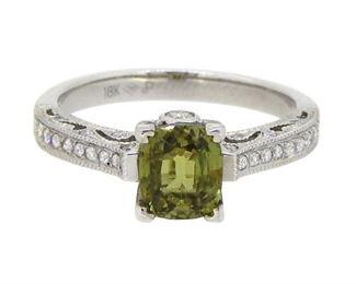 1.44ct Alexandrite & 0.26 Diamond Ring