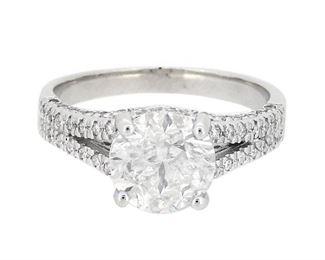 2.31ct Diamond Ring 18K White Gold