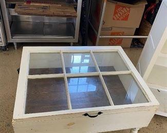 Glass-Framed Display coffee table