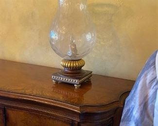 Glass Hurricane Lamps (2)