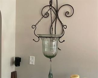 Wrought Iron and Glass Candle holder