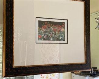 Oversized Frame with Poppy Print