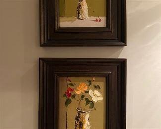 Signed artwork with custom frames