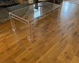 Ballard Design Acryllic coffee table