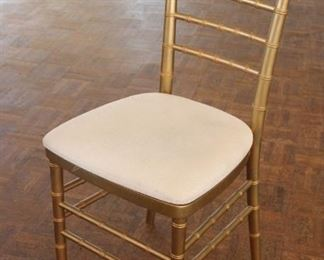 """#2 $20.00 each Gold spindle chair 36"""" X 16"""" X 18""""  (200 + chairs available)"""