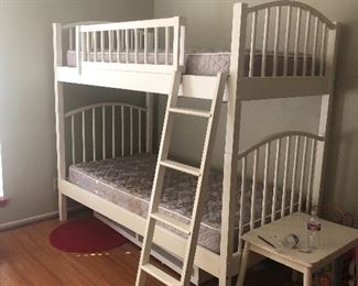 white bunk beds -whispering oaks home $450 for all