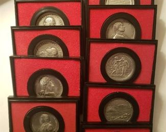 Pewter coin collection