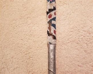 Beaded Native Tomahawk