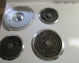 Burners on antique stove