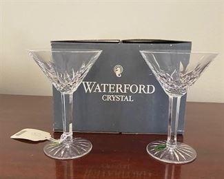 Waterford Lismore Martini glasses in original box