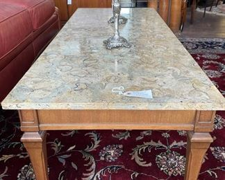 50% off! was $375. Travertine Marble Coffee Table