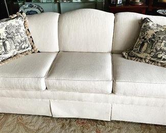 "50% off! was $1950. Lovely Ecru Sofa by Norwalk,  $1,950; 88"" long x 26"" high"