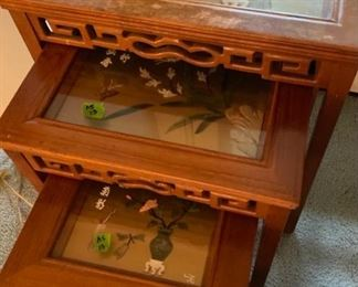 50% off! was $475. Set of 4 Chinese Jade Nesting Tables