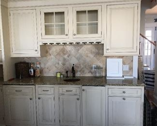 Custom wet bar. All components will be removed and ready for pick up. Approximately 14 feet long.