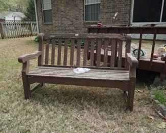 Very sturdy wooden bench