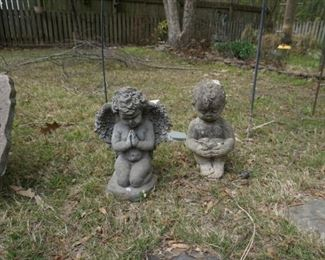 concrete angel and boy