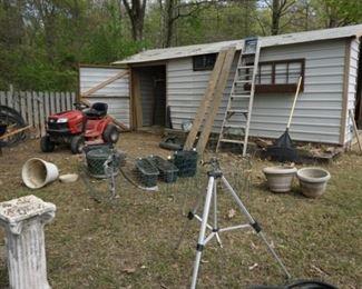 Sprinkler tree , ladder, pots
