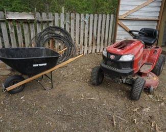 Wheel barrow, craftsman mower
