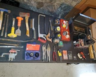 Assorted Hand Tools and Craftsman Palm Sander