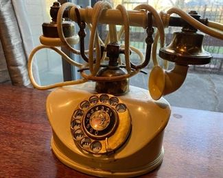 VINTAGE VICTORIAN STYLE ROTARY TELEPHONE WITH CLOTH CORD. - https://connect.invaluable.com/Aether/auction-lot/vintage-victorian-style-rotary-telephone-with-clo_0B743D5802