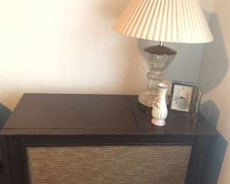 Vintage cabinet for turntable.
