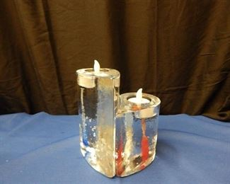 Unique Heart Candle Holders - 2 Piece