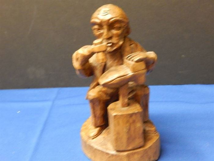 Hand Carved Wood Cobbles Figurine