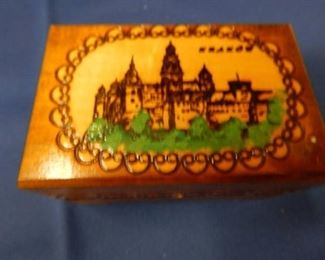 Small Wooden Box with Key