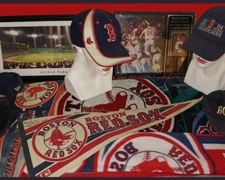 Boston Red Sox Items including a Joe Morgan Signed Pennant