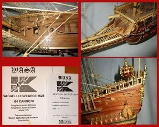 Close Up Details of Vasa or Wasa with Original Paperwork