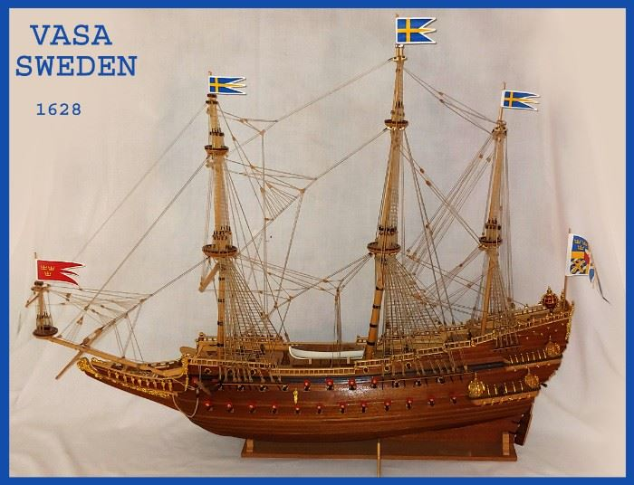Fabulous Model Ship with Great Detail; The Vasa of Sweden 1628. It comes with the original paperwork