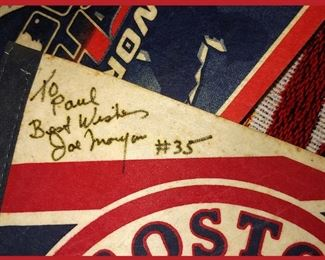 Signed Joe Morgan Pennant; Manager of the Red Sox