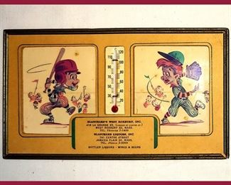 Vintage Blanchard's Liquors Advertising Baseball Thermometer. Blanchard's are still in Business in Boston