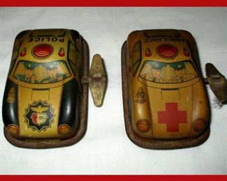 Vintage Tin Litho Wind Up Cars Russ Berrie?